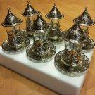 Turkish tea set tea glasses ottoman cups glass mug hot tea glasses tribal set