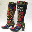 Suzani boots handmade shoes embroidery shoes Turkoman boots velvet shoes 27