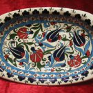H.made lead free Ottoman iznik rice plate bowl collectible turkish ceramic 13