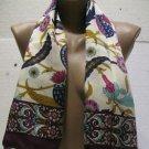 100 % silk scarf shawl vintage silk scarf handmade scarf soft light scarf n 4