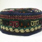 Antique asian fine embroidery hat turkish beret collecion hat vegetable dyes 14
