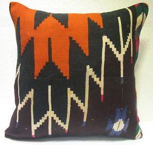 Antique Patchwork Couch Pillow kilim coushin housse de coussin kelim kissen h 27