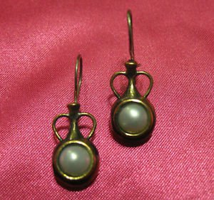 1 of a kind handmade earrings vintage antique tribal kuchi gem stone unique 9