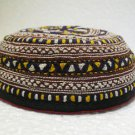 Antique asian fine embroidery hat turkish beret collecion hat vegetable dyes 16