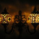 Yellow mosaic glass sconce lamp wall light lampe mosaique electric wall candle 4