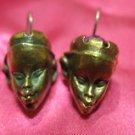 1 of a kind handmade earrings vintage antique tribal kuchi gem stone unique 11