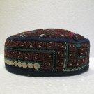 Antique turkoman super fine embroidery hat turkish beret collecion hat natural 5