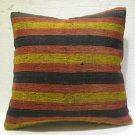 Antique nomadic kelim kissen sofa throw pillow cover tribal rug cushion 64