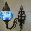 Blue mosaic glass sconce lamp wall light lampe mosaique electric wall candle 2