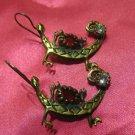 1 of a kind handmade earrings vintage antique tribal kuchi gem stone unique 6