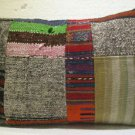 Antique patchwork kelim kissen sofa throw pillow cover tribal rug cushion 43