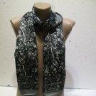 100 % silk scarf shawl vintage silk scarf handmade scarf soft light scarf m 7
