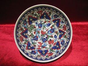 1 of a kind lead free Ottoman iznik fruit bowl collectible turkish ceramic 1