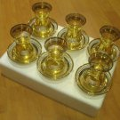 GOLD plated turkish tea set glasses ottoman cups glass mug hot tea glasses n 64