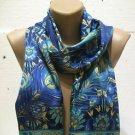100 % silk scarf shawl vintage silk scarf handmade scarf soft light scarf n 27