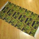 pistachio green purple wall hanging entry carpet tapis Turc teppiche kelim 59
