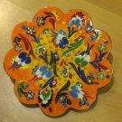 Hand made tile ceramic Pottery trivet for hot pots decoration or tea pots _ n 7