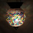 Moroccan mosaic hanging lamp glass chandelier light lampen handmade candle m 047