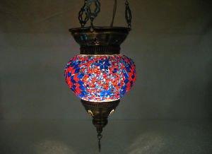 Moroccan lantern mosaic hanging lamp glass chandelier light lampe mosaiqe hng 21