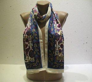 100 % silk scarf shawl vintage silk scarf handmade scarf soft light scarf m 28