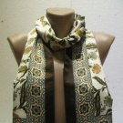 100 % silk scarf shawl vintage silk scarf handmade scarf soft light scarf m 34