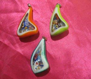 glass necklace pendant jewellery glass pendant handmade art work ko 9
