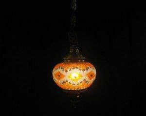 Orange mosaic hanging lamp türkische lampen moroccan lantern lampe mosaique 196