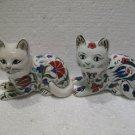 Couple ceramic cat Tribal Turkish made Decorative cat ceramic cat handmade 1