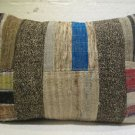 Antique patchwork kelim kissen sofa throw pillow cover tribal rug cushion 47