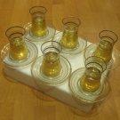 GOLD plated turkish tea set glasses ottoman cups glass mug hot tea glasses b 10