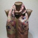 100 % silk scarf shawl vintage silk scarf handmade scarf soft light scarf m 16