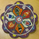 Hand made tile ceramic Pottery trivet for hot pots decoration or tea pots _ n 9