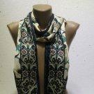 100 % silk scarf shawl vintage silk scarf handmade scarf soft light scarf m 18