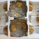 GOLD plated turkish tea set glasses ottoman cups glass mug hot tea glasses 39
