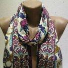 100 % silk scarf shawl vintage silk scarf handmade scarf soft light scarf m 49
