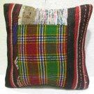 Patchwork nomadic Turkish handmade cecim kilim pillow cushion 18'' (126 )