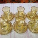 Turkish tea set tea glasses ottoman cups glass mug hot tea glasses tribal set 2