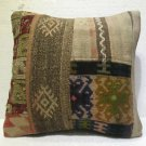 Antique patchwork kelim kissen sofa throw pillow cover tribal rug cushion 34