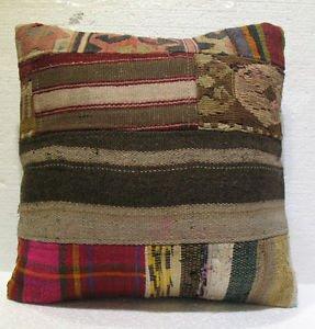 Antique patchwork kelim kissen sofa throw pillow cover tribal rug cushion 30