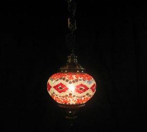 Red mosaic hanging lamp türkische lampen moroccan lantern lampe mosaique e 193