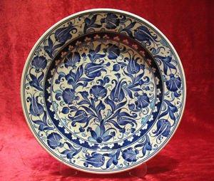 H.made lead free Ottoman iznik plate wall hanging collectible turkish ceramic 8