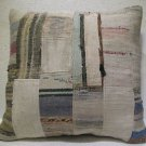 Antique Patchwork Couch Throw Pillow Turkish Kilim Rustic Cushion 26.8'' (ks 98)