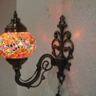 Orange mosaic glass sconce lamp wall light lampe mosaique electric candle 12