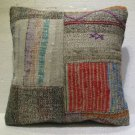 Antique patchwork kelim kissen sofa throw pillow cover tribal rug cushion 37