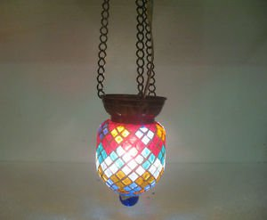Moroccan lantern mosaic hanging lamp glass chandelier light lampen candle n 094