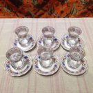 Turkish tea set tea glasses ottoman cups glass mug hot tea glasses tribal set 8