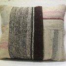 Antique patchwork kelim kissen sofa throw pillow cover tribal rug cushion 35