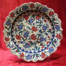 H.made lead free Ottoman iznik plate wall hanging collectible turkish ceramic 3