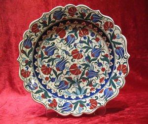 H.made lead free Ottoman iznik plate wall hanging collectible turkish ceramic 3