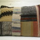 Antique patchwork kelim kissen sofa throw pillow cover tribal rug cushion 41